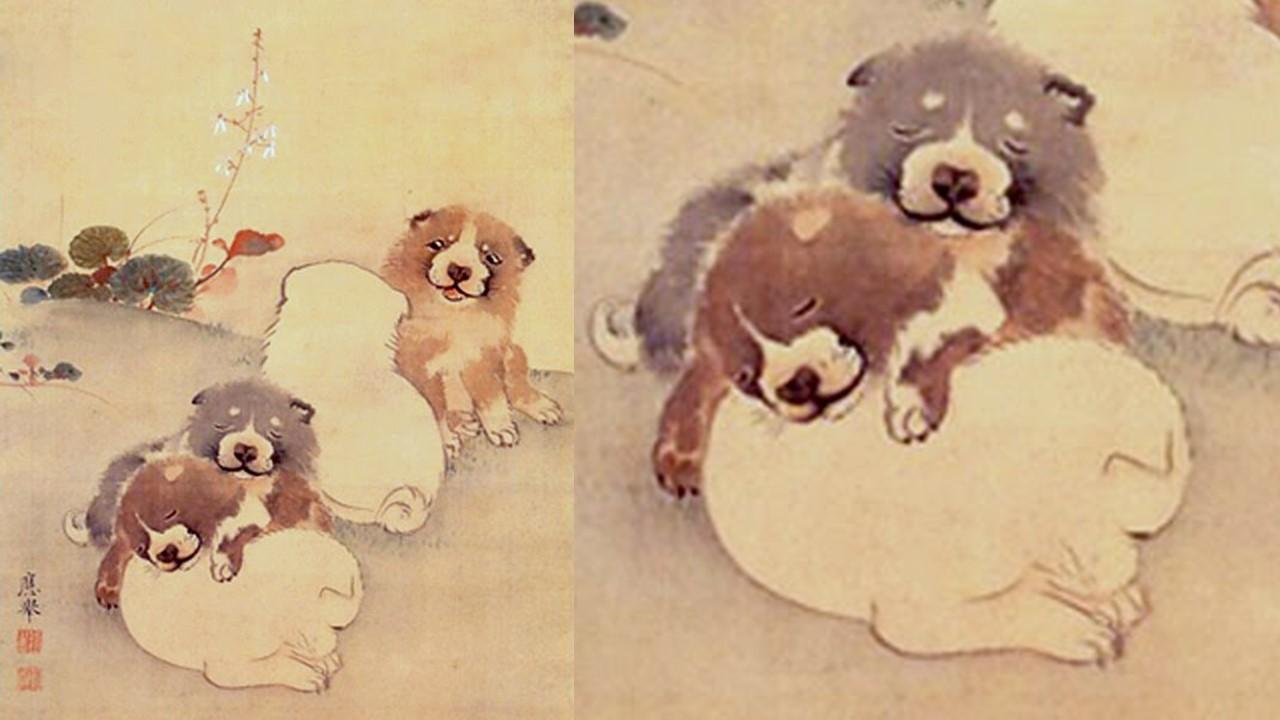 「円山応挙 犬」の画像検索結果